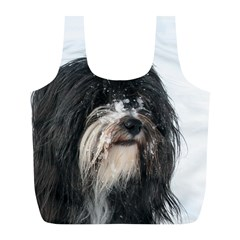 Tibet Terrier  Full Print Recycle Bags (L)