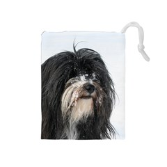 Tibet Terrier  Drawstring Pouches (Medium)