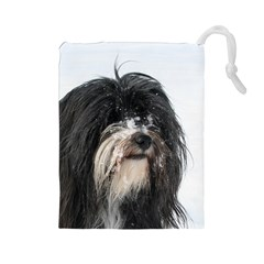 Tibet Terrier  Drawstring Pouches (Large)
