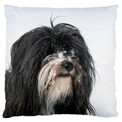Tibet Terrier  Large Flano Cushion Case (One Side)