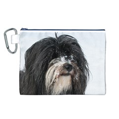 Tibet Terrier  Canvas Cosmetic Bag (L)