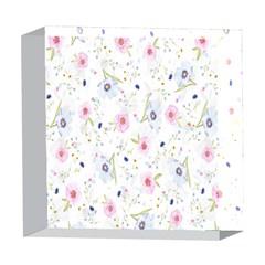 Floral Pattern Background 5  x 5  Acrylic Photo Blocks