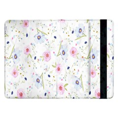 Floral Pattern Background Samsung Galaxy Tab Pro 12.2  Flip Case