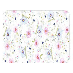 Floral Pattern Background Double Sided Flano Blanket (Large)