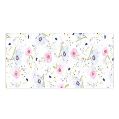 Floral Pattern Background Satin Shawl
