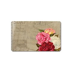 Flower Floral Bouquet Background Magnet (Name Card)