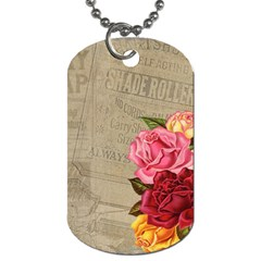 Flower Floral Bouquet Background Dog Tag (One Side)