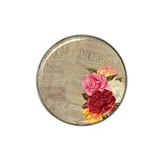 Flower Floral Bouquet Background Hat Clip Ball Marker (4 pack)