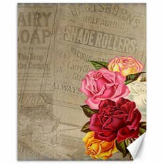 Flower Floral Bouquet Background Canvas 16  x 20