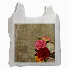 Flower Floral Bouquet Background Recycle Bag (Two Side)