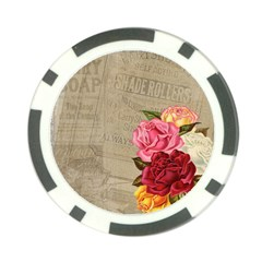 Flower Floral Bouquet Background Poker Chip Card Guards (10 pack)