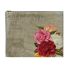 Flower Floral Bouquet Background Cosmetic Bag (XL)