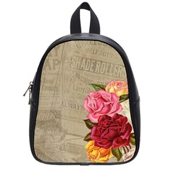 Flower Floral Bouquet Background School Bags (Small)