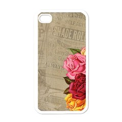 Flower Floral Bouquet Background Apple iPhone 4 Case (White)