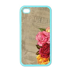 Flower Floral Bouquet Background Apple iPhone 4 Case (Color)