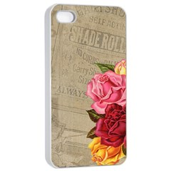 Flower Floral Bouquet Background Apple iPhone 4/4s Seamless Case (White)
