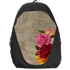 Flower Floral Bouquet Background Backpack Bag