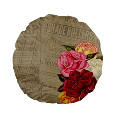 Flower Floral Bouquet Background Standard 15  Premium Round Cushions