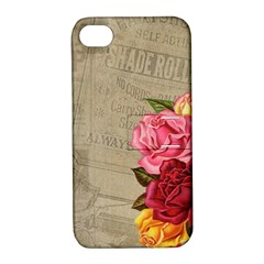 Flower Floral Bouquet Background Apple iPhone 4/4S Hardshell Case with Stand