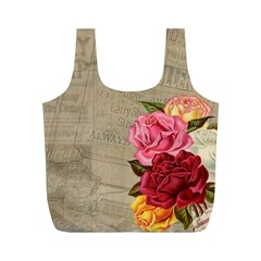 Flower Floral Bouquet Background Full Print Recycle Bags (M)