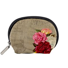Flower Floral Bouquet Background Accessory Pouches (Small)