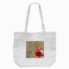 Flower Floral Bouquet Background Tote Bag (White)