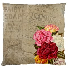 Flower Floral Bouquet Background Large Flano Cushion Case (One Side)
