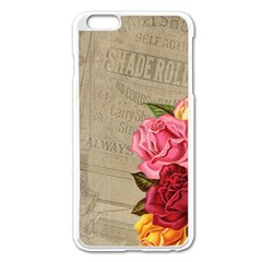 Flower Floral Bouquet Background Apple iPhone 6 Plus/6S Plus Enamel White Case