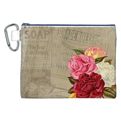 Flower Floral Bouquet Background Canvas Cosmetic Bag (XXL)