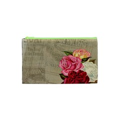 Flower Floral Bouquet Background Cosmetic Bag (XS)