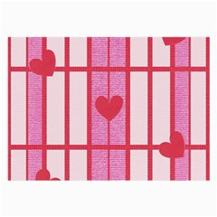 Fabric Magenta Texture Textile Love Hearth Large Glasses Cloth (2-Side)
