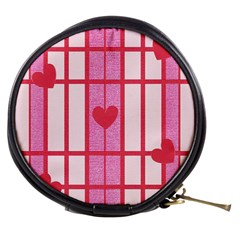 Fabric Magenta Texture Textile Love Hearth Mini Makeup Bags