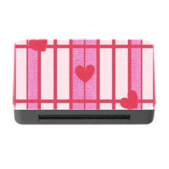Fabric Magenta Texture Textile Love Hearth Memory Card Reader with CF