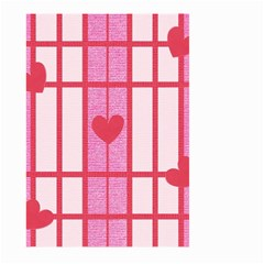 Fabric Magenta Texture Textile Love Hearth Large Garden Flag (Two Sides)