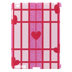 Fabric Magenta Texture Textile Love Hearth Apple iPad 3/4 Hardshell Case (Compatible with Smart Cover)