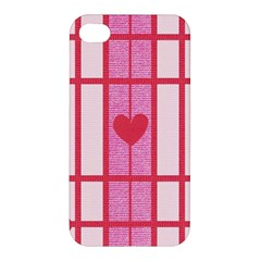 Fabric Magenta Texture Textile Love Hearth Apple iPhone 4/4S Premium Hardshell Case