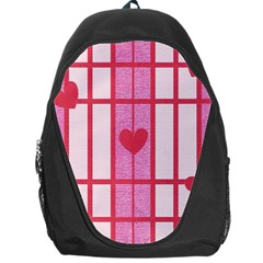 Fabric Magenta Texture Textile Love Hearth Backpack Bag