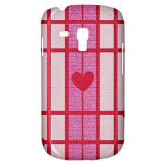 Fabric Magenta Texture Textile Love Hearth Galaxy S3 Mini