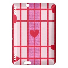 Fabric Magenta Texture Textile Love Hearth Kindle Fire HDX Hardshell Case