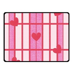 Fabric Magenta Texture Textile Love Hearth Double Sided Fleece Blanket (Small)