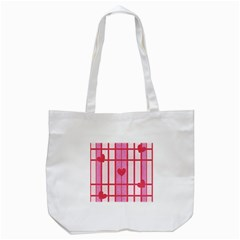 Fabric Magenta Texture Textile Love Hearth Tote Bag (White)