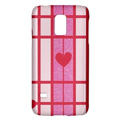 Fabric Magenta Texture Textile Love Hearth Galaxy S5 Mini