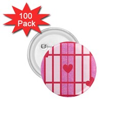 Fabric Magenta Texture Textile Love Hearth 1.75  Buttons (100 pack)
