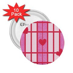 Fabric Magenta Texture Textile Love Hearth 2.25  Buttons (10 pack)