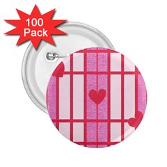 Fabric Magenta Texture Textile Love Hearth 2.25  Buttons (100 pack)