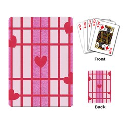 Fabric Magenta Texture Textile Love Hearth Playing Card