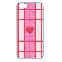 Fabric Magenta Texture Textile Love Hearth Apple Seamless iPhone 5 Case (Color)