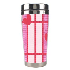 Fabric Magenta Texture Textile Love Hearth Stainless Steel Travel Tumblers