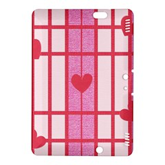 Fabric Magenta Texture Textile Love Hearth Kindle Fire HDX 8.9  Hardshell Case