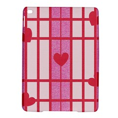 Fabric Magenta Texture Textile Love Hearth iPad Air 2 Hardshell Cases